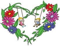 Сердце цветков стоковая фотография rf