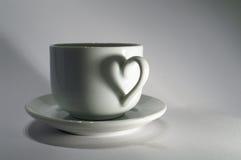 сердце чашки Стоковая Фотография