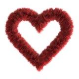 сердце шерсти 3d Стоковые Фото