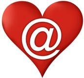 сердце электронной почты Стоковое Изображение RF