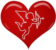 сердце эрота иллюстрация вектора