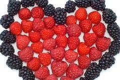 сердце ягод стоковая фотография rf