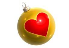сердце яркия блеска шарика золотистое иллюстрация вектора