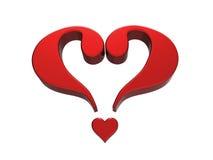 Сердце 1 вопросительного знака стоковая фотография