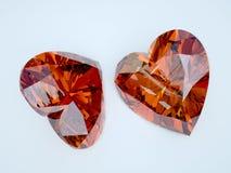 Сердце 2 рубинов Стоковое Изображение RF