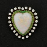 сердце brooch Стоковая Фотография RF