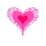 сердце bullseye шпунтовое Стоковое фото RF