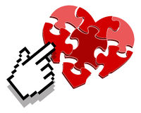 сердце click Стоковое Изображение RF