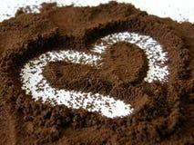 сердце coffe стоковые фото
