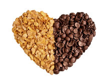 сердце cornflakes Стоковое фото RF