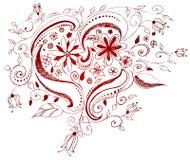 сердце doodle иллюстрация штока