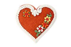 сердце gingerbread стоковые изображения rf