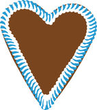 сердце gingerbread oktoberfest стоковые изображения rf