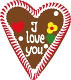 сердце gingerbread oktoberfest стоковые изображения