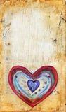 сердце grunge предпосылки иллюстрация вектора