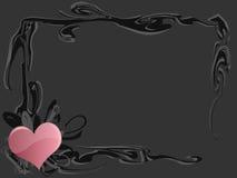 сердце grunge рамки Стоковая Фотография