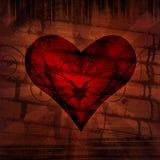сердце grunge Стоковая Фотография RF