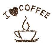 сердце i кофе темное Стоковое Изображение