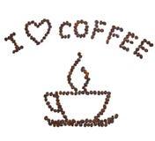сердце i кофе Стоковые Фото