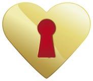 Сердце Keyhole Стоковое Изображение RF
