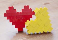 Сердце Lego Стоковое Изображение