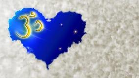 сердце om облака Стоковые Изображения