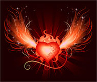сердце phoenix Иллюстрация штока