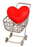 сердце s едока корзины иллюстрация вектора