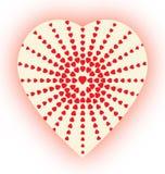 Сердц-полутоновое изображение стоковые фото