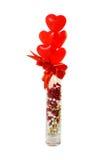 Сердц-Форменные Lollipops в вазе Стоковые Фотографии RF