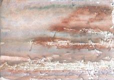 Серебристая коричневая красочная картина акварели Стоковое Изображение RF