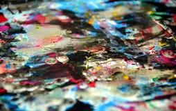 Серебристые голубые темные красочные waxy запачканные цвета, контрасты, waxy творческая предпосылка стоковые фотографии rf
