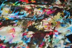 Серебристые голубые темные яркие waxy запачканные цвета, контрасты, waxy творческая предпосылка стоковое фото