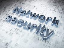 Серебряная безопасность сети на цифровой предпосылке Стоковые Изображения