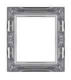 Серебряная деревянная картинная рамка скульптуры Стоковое Фото