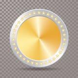 Серебряная звезда золотой монетки иллюстрация штока