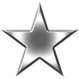 серебряная звезда 3d иллюстрация вектора