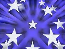 серебряная звезда Стоковая Фотография