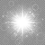 Серебряная звезда Нового Года Стоковое Изображение RF