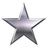 серебряная звезда Стоковое фото RF
