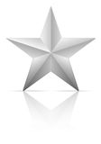Серебряная звезда иллюстрация вектора