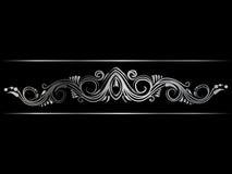Серебряная индийская линия граница искусства Стоковая Фотография