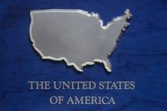Серебряная карта США 1 Стоковые Фотографии RF
