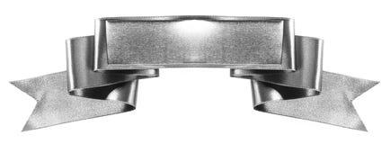 Серебряная лента знамени Стоковые Фотографии RF