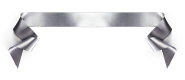 Серебряная лента знамени Стоковые Фото