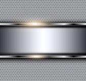 Серебряная металлическая предпосылка стоковое изображение rf