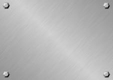 Серебряная металлическая пластина Стоковое Изображение