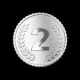 Серебряная медаль Стоковая Фотография