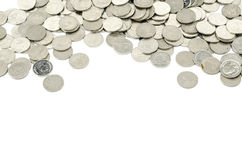 Серебряная монета изолированная на белизне Стоковое Изображение RF