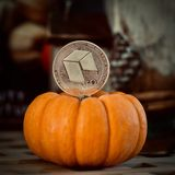 Серебряная нео монетка стоковое фото rf